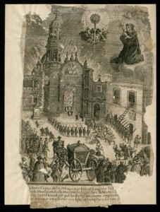 Depiction of fire at Mexico City Cathedral (Mexico Documents Collection)