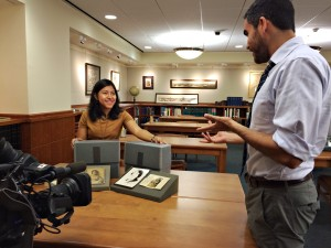 Hispanic Collections Archivist Lisa Cruces highlights the María Cristina Mena Papers for the cameras of Houston Public Media.