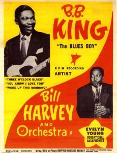 promotional poster for B.B. King and Bill Harvey & Orchestra (Texas Music Collection)