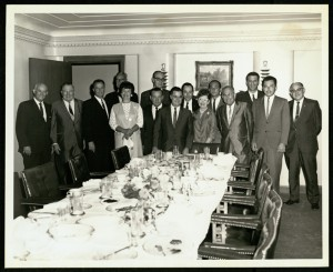 Marcella Perry and others enjoy a breakfast with Mayor Louie Welch (1965, Marcella Perry Papers)