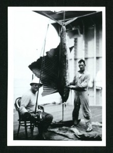 Franklin D. Roosevelt, deep sea fishing on USS Houston