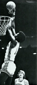 Jones tips it in against the University of Southwestern Louisiana (Houstonian, 1973)