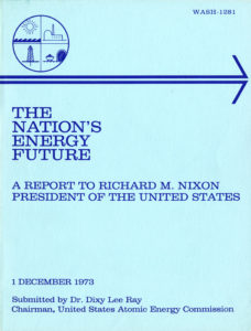 "cover of ""The Nation's Energy Future,"" 1973 (from the Tenneco Energy History Records)"
