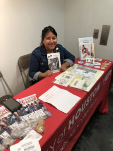 Elizabeth Cruces at the recent 15th annual Zine Fest Houston.