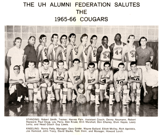 from the UH Alumni Federation Basketball Appreciation Dinner program (1966), Athletics Department Records