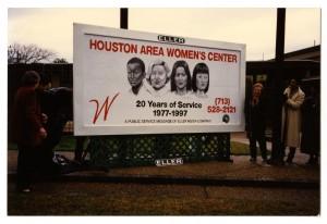 The Houston Area Women's Center celebrated their 20 year anniversary in 1997. (Houston Area Women's Center Photographs)